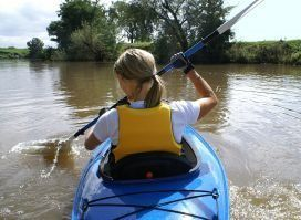 youth kayaking